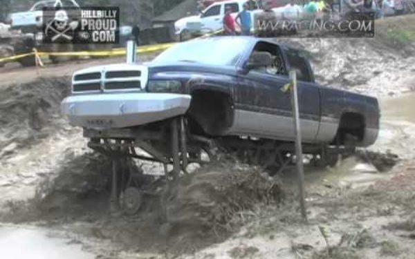 Mega Trucks Play In Monster Mud