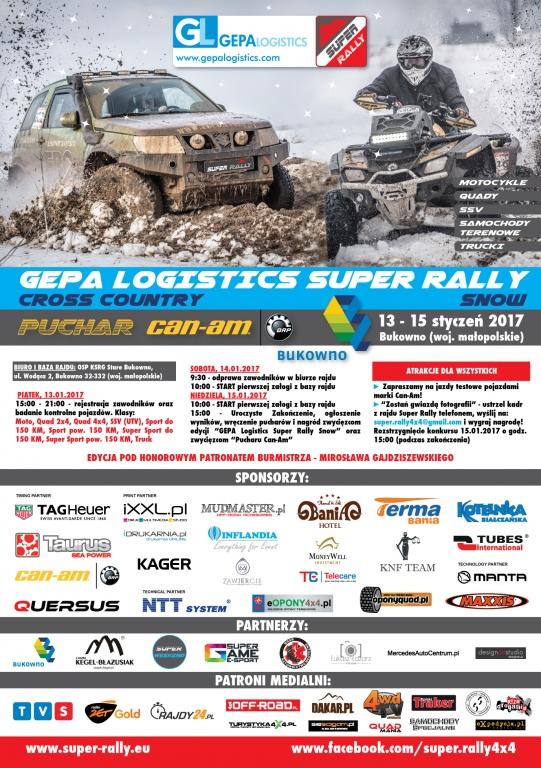 Gepa Logistics Super Rally Snow śnieżny Początek Sezonu 2017