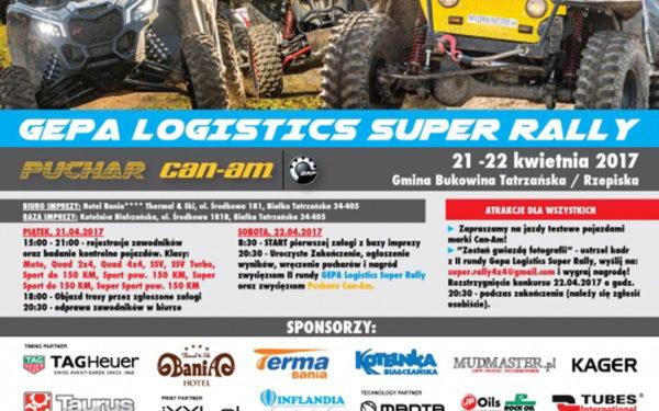 Trzecia Runda Gepa Logistics Super Rally 12 14.05.2017