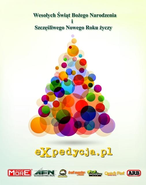 Wesołych Świąt Bożego Narodzenia ISzczęśliwego Nowego Roku 2018 życzy Ekipa Expedycja.pl