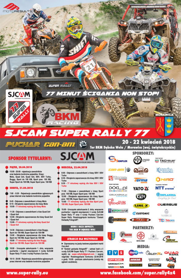 Ii Runda Sjcam Super Rally 77 I Puchar Can Am 77 Morawica