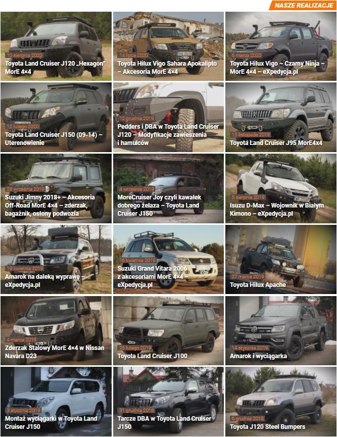 Suzuki Jimny 2018+ Akcesoria Off Road More 4x4 Galeria Zdjęć